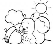 Coloriage et dessins gratuit Ecureuil 34 à imprimer