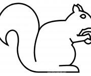 Coloriage et dessins gratuit Ecureuil 46 à imprimer