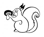 Coloriage et dessins gratuit Ecureuil 48 à imprimer