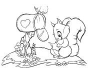 Coloriage et dessins gratuit Ecureuil 51 à imprimer