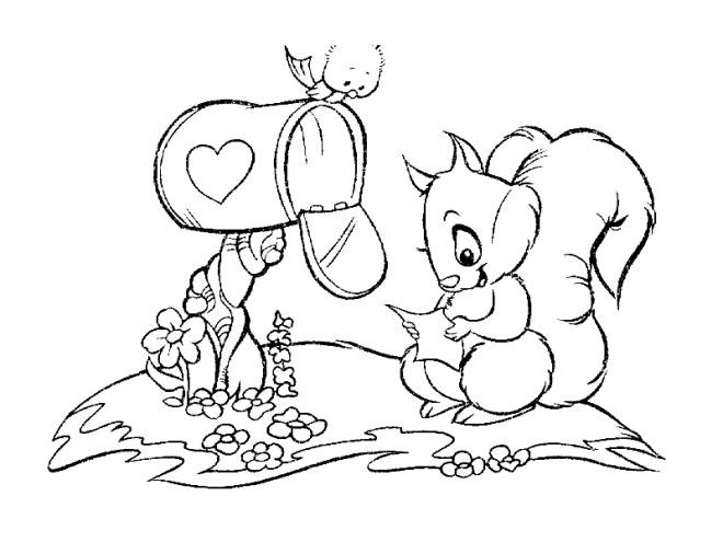 Coloriage et dessins gratuits Ecureuil 51 à imprimer