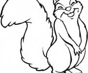 Coloriage et dessins gratuit Ecureuil 53 à imprimer