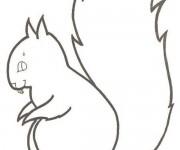 Coloriage et dessins gratuit Ecureuil 8 à imprimer
