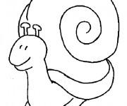 Coloriage Escargot avec sa grande maison