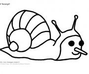 Coloriage Escargot avec un long nez