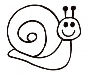 Coloriage Escargot content