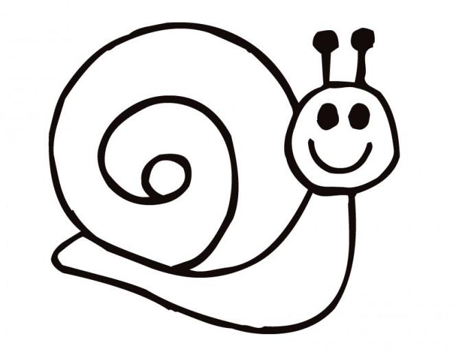 Coloriage Escargot Content Dessin Gratuit A Imprimer