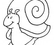 Coloriage Escargot content stylisé