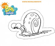 Coloriage Escargot de Bob L'éponge