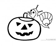 Coloriage Escargot de Halloween