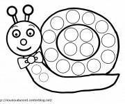 Coloriage et dessins gratuit Escargot élégant à imprimer