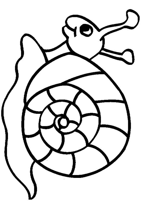 Coloriage et dessins gratuits Escargot en souriant à imprimer