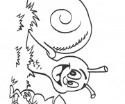Coloriage Escargot et la Fourmi