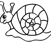 Coloriage Escargot facile