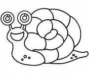 Coloriage Escargot facile à décorer