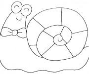 Coloriage Escargot heureux