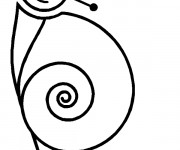 Coloriage Escargot joyeux