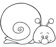 Coloriage Escargot mignon