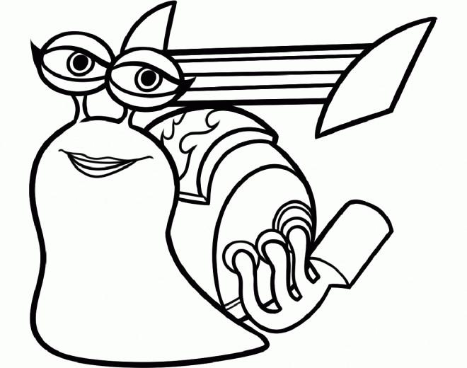 Coloriage et dessins gratuits Escargot rapide à imprimer
