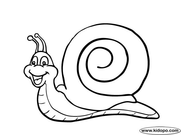 Coloriage Escargot rigolo dessin gratuit à imprimer