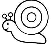 Coloriage Escargot simple