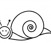 Coloriage Escargot simple stylisé