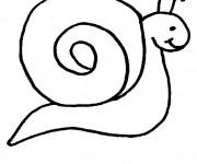 Coloriage Escargot  tout simple