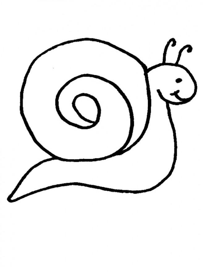 Coloriage Escargot tout simple dessin gratuit à imprimer