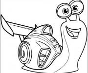 Coloriage Escargot très rapide animé