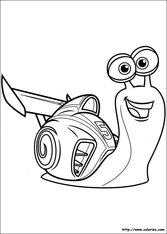 Coloriage et dessins gratuits Escargot très rapide animé à imprimer