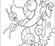 Coloriage Escargots amoureux