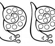Coloriage Escargots identiques