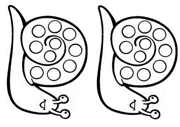 Coloriage Escargot gratuit à imprimer liste 40 à 60