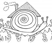 Coloriage La maison de l'Escargot