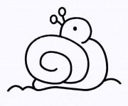 Coloriage Le petit Escargot facile