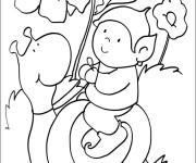Coloriage Le petit sur l'Escargot