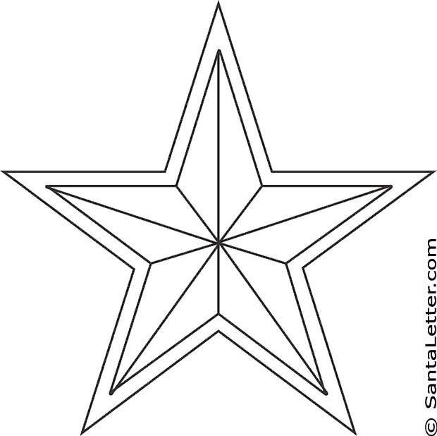 Coloriage Étoile de Noël à télécharger