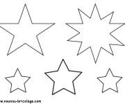 Coloriage Étoile différentes