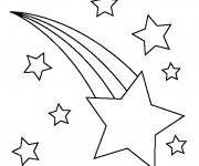 Coloriage étoile Filante Dans Le Ciel Dessin Gratuit à Imprimer