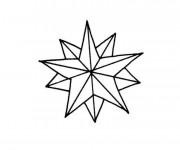 Coloriage Étoile maternelle