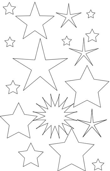Coloriage Étoile par tout dessin gratuit à imprimer