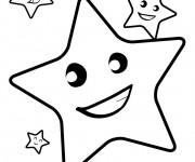 Coloriage Étoiles en souriant