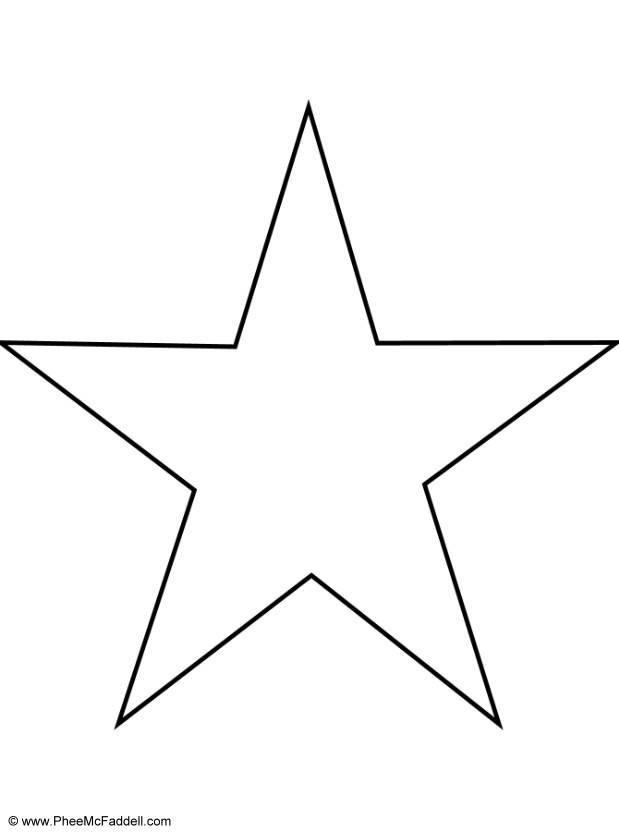 Coloriage Gabarit étoile Cinq Branches Dessin Gratuit à Imprimer