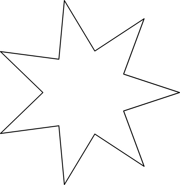 Coloriage Gabarit étoile Facile Dessin Gratuit à Imprimer