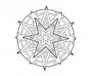 Coloriage dessin  Mandala Soleil 26