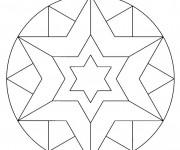 Coloriage dessin  Mandala Soleil 31