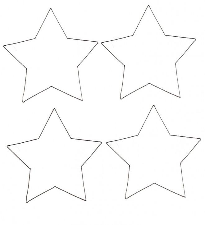 Coloriage et dessins gratuits Quatres Étoiles facile à imprimer