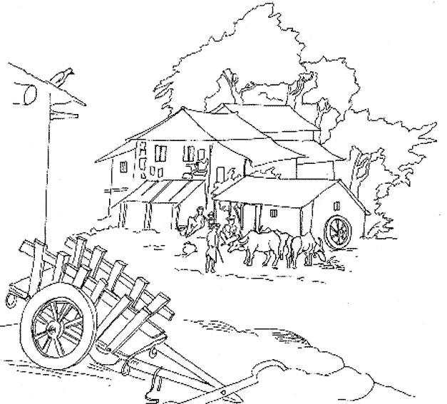 Coloriage ferme maternelle dessin gratuit imprimer - Coloriage de fermier ...