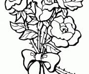 Coloriage Bouquet de Fleur