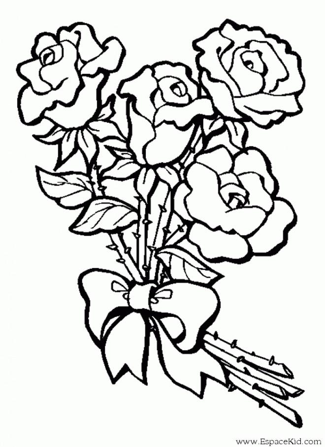 Coloriage Bouquet de Fleur dessin gratuit à imprimer